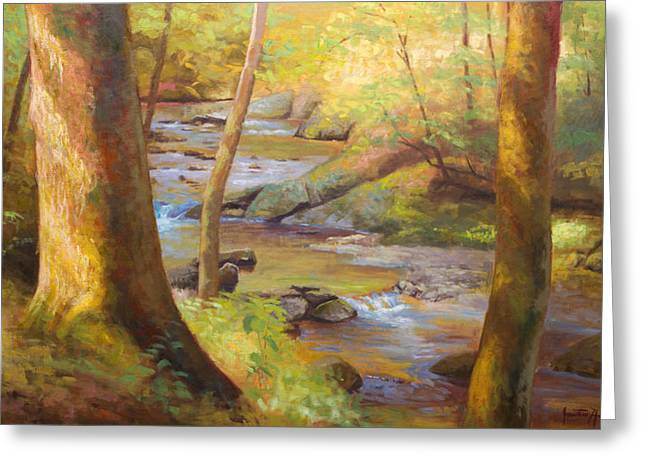 Jonathan Howe Greeting Cards - Through the Woods Greeting Card by Jonathan Howe