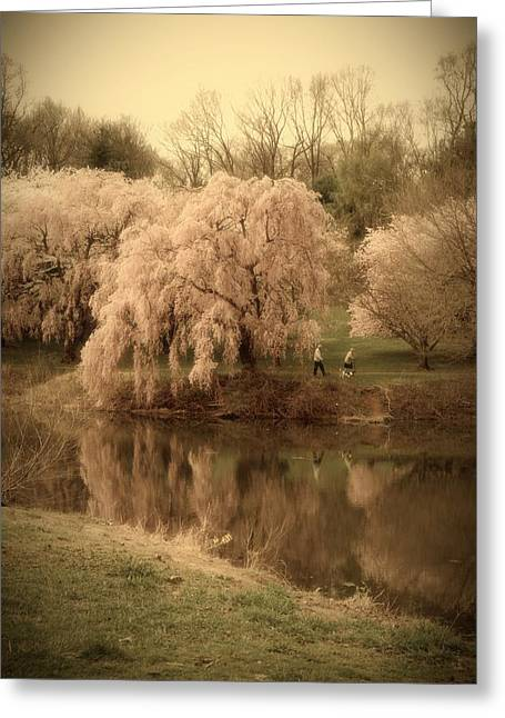 Senior Citizens Greeting Cards - Through The Years - Holmdel Park Greeting Card by Angie Tirado