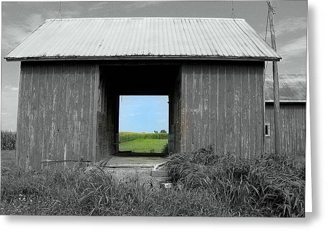 Drive Through Greeting Cards - Through the Years Greeting Card by Claude Oesterreicher