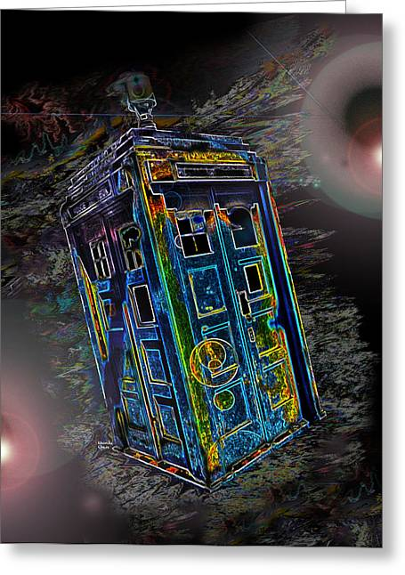 Conversing Digital Art Greeting Cards - Through Time and Space Greeting Card by Rhonda Chase