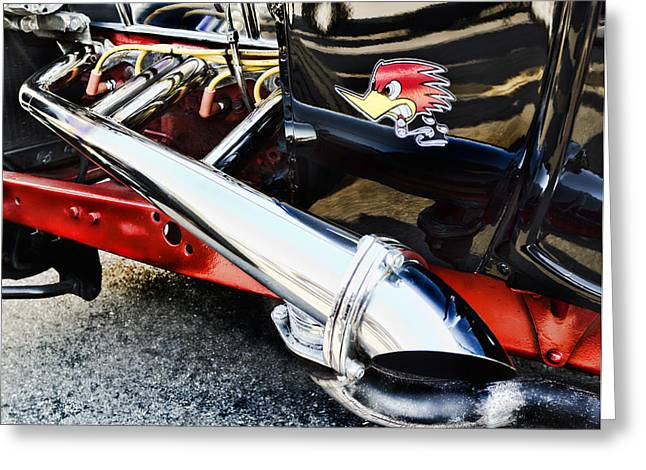 Red Street Rod Greeting Cards - Thrush Greeting Card by Peter Chilelli