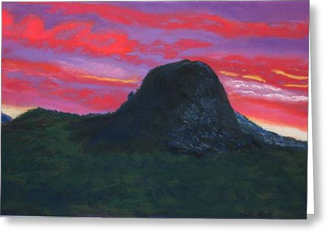 Prescott Pastels Greeting Cards - Thumb Butte Sunset Greeting Card by Michele Turney