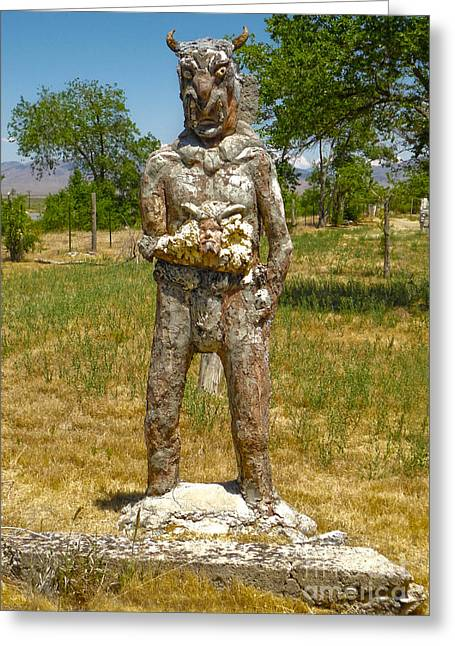 Thunder Mountain Indian Monument - Demon Greeting Card by Gregory Dyer