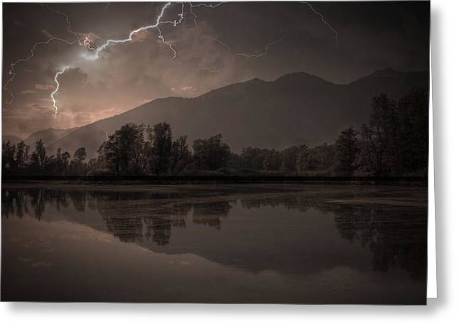 Flash Greeting Cards - Thunder Storm Greeting Card by Joana Kruse