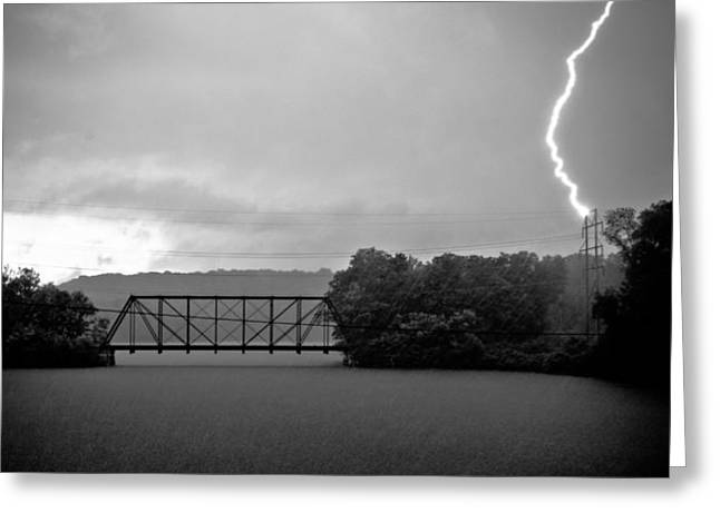 Abandoned Train Greeting Cards - Thunder Struck Greeting Card by David Hahn