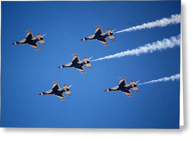 Throttle Greeting Cards - Thunderbirds Greeting Card by Karen M Scovill