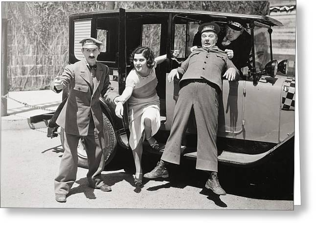1933 Movies Greeting Cards - Thundering Taxi, 1933 Greeting Card by Granger