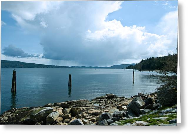 Vancouver Island Greeting Cards - Thunderstorm On The Horizon Greeting Card by Travis Crockart