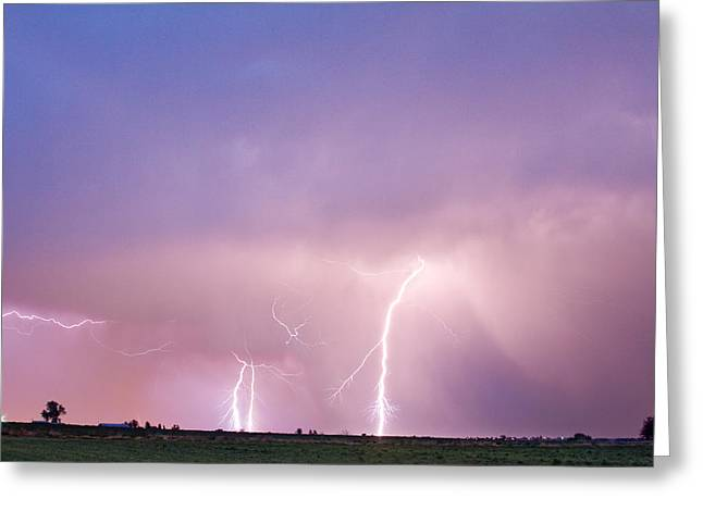 Images Lightning Greeting Cards - Thunderstorm on the Plains Greeting Card by James BO  Insogna