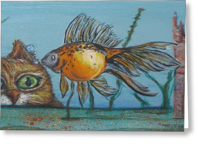Aquarium Fish Greeting Cards - Tic-Toc Greeting Card by Cathi Doherty