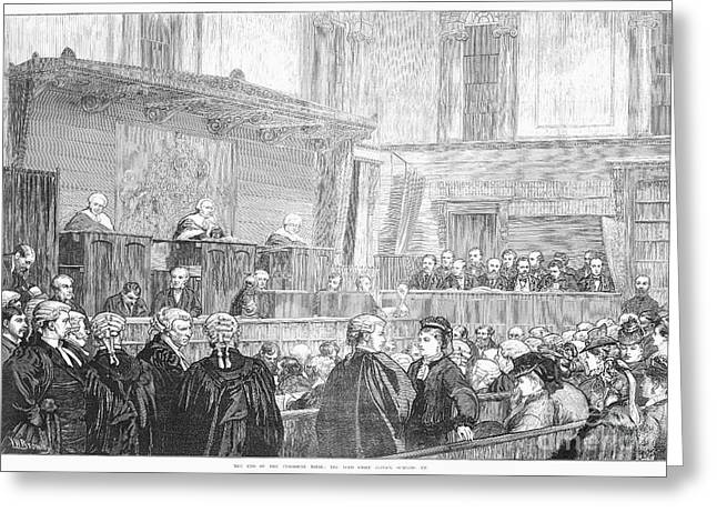 1874 Greeting Cards - Tichborne Trial, 1874 Greeting Card by Granger