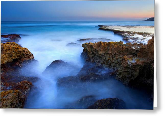Tide Pools Greeting Cards - Tidal Bowl Boil Greeting Card by Mike  Dawson