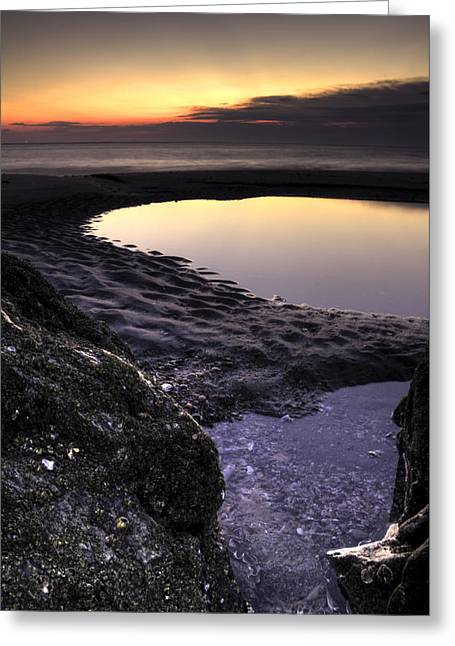 Tidal Greeting Cards - Tidal Pool Reflections Greeting Card by Dustin K Ryan