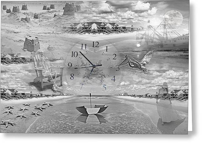 Tidal Pools Greeting Card by Betsy C Knapp