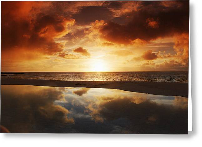 Vince Greeting Cards - Tidepool At Sunset Greeting Card by Vince Cavataio - Printscapes