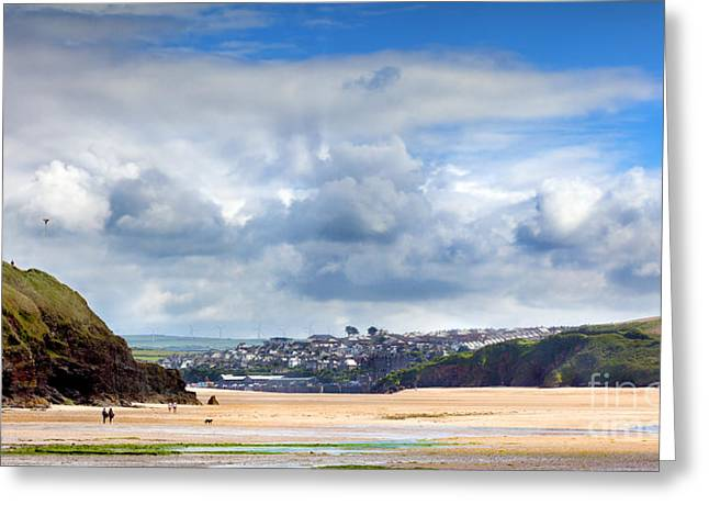 Kites Greeting Cards - Tides out in Cornwall Greeting Card by Simon Bratt Photography LRPS