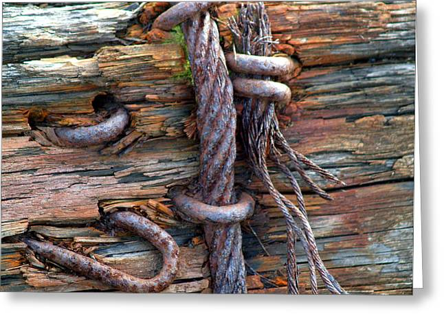 Tied Up Greeting Card by ROBERT TRAUTH