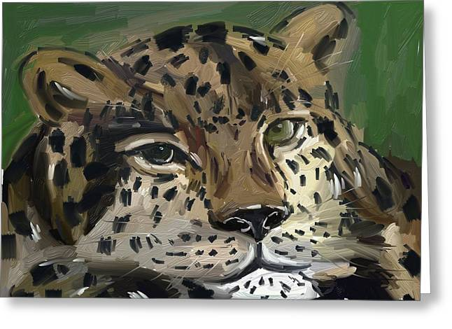 Lavers Greeting Cards - Tiger  Greeting Card by Bogdan Floridana Oana