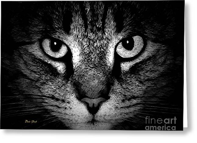 Photos Of Cats Digital Greeting Cards - Tiger Tiger 2 Greeting Card by Dale   Ford