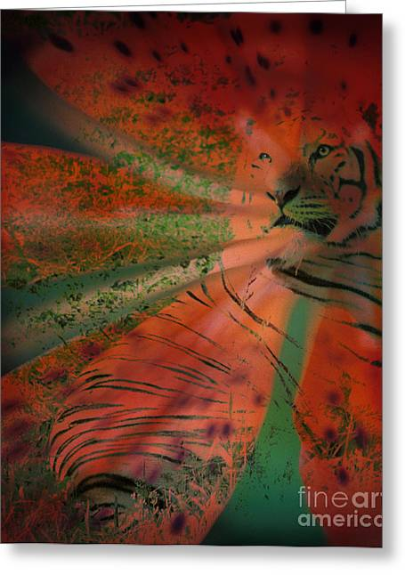 Wildcats Greeting Cards - Tigerlily Greeting Card by Janeen Wassink Searles
