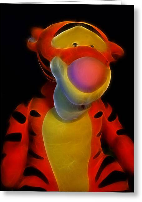 Beady Eyes Greeting Cards - Tigger - Winnie The Pooh -  Greeting Card by Lee Dos Santos