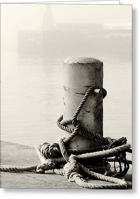 Famous Fish Abstract Greeting Cards - Tight Bollard Greeting Card by Andrew  Hewett