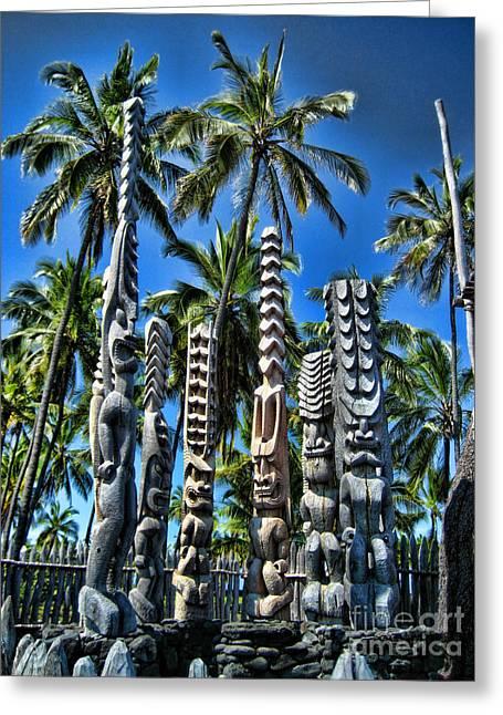 Brian Governale Greeting Cards - Tiki Gods Greeting Card by Brian Governale