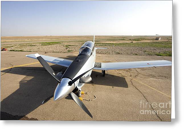 Iraq Greeting Cards - Tikrit, Iraq - An Iraqi Air Force T-6 Greeting Card by Terry Moore