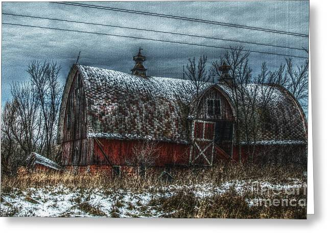 Barn Digital Art Greeting Cards - Til The Cows Come Home Greeting Card by The Stone Age