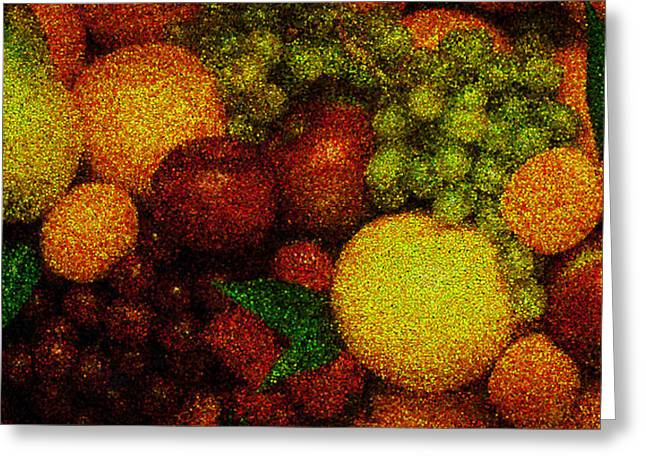 Tiled Fruit  Greeting Card by Mauro Celotti