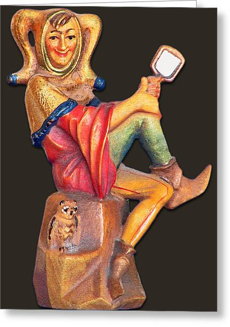 Fairy Tales Greeting Cards - Till Eulenspiegel - The Merry Prankster Greeting Card by Christine Till