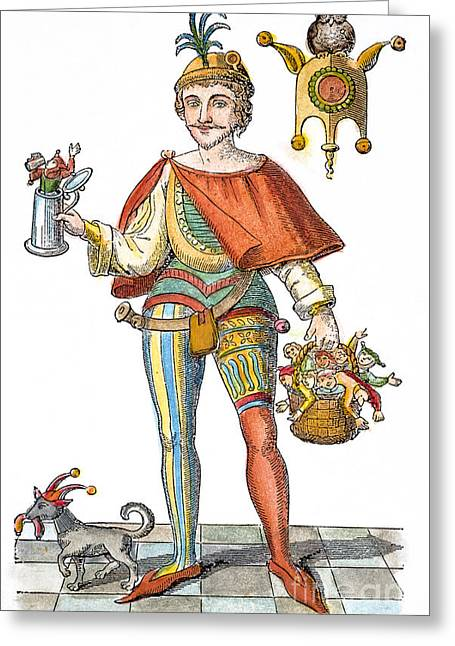 Stein Greeting Cards - TILL EULENSPIEGEL (d. 1350) Greeting Card by Granger