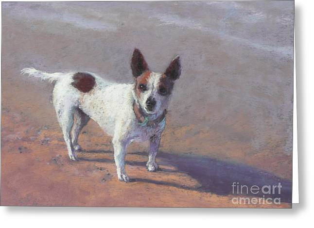 Terrier Pastels Greeting Cards - Tilly Greeting Card by Pamela Pretty