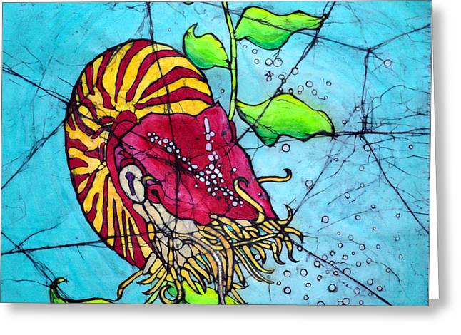 Sealife Posters Greeting Cards - Tilt-A-Whirl Greeting Card by Shari Carlson