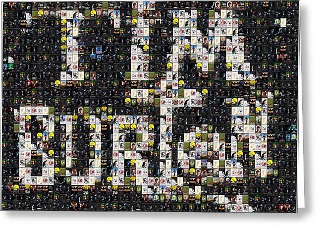 Beetlejuice Greeting Cards - Tim Burton Poster Collection Mosaic Greeting Card by Paul Van Scott