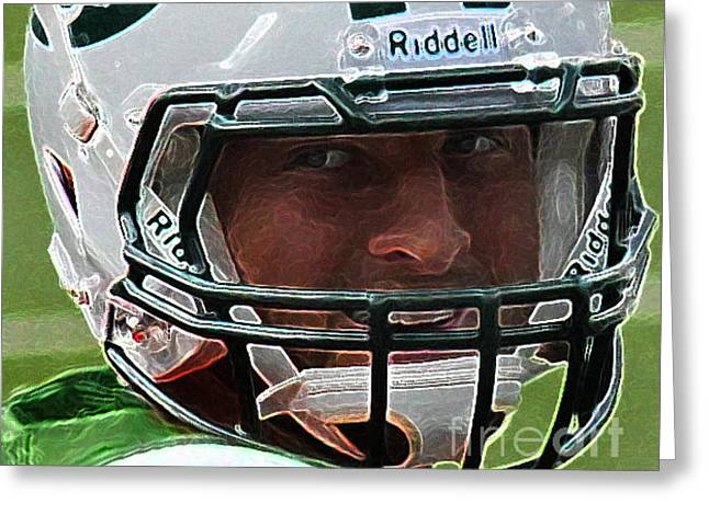 Tebow Greeting Cards - Tim Tebow Art Deco Close-up - New York Jets -  Greeting Card by Lee Dos Santos