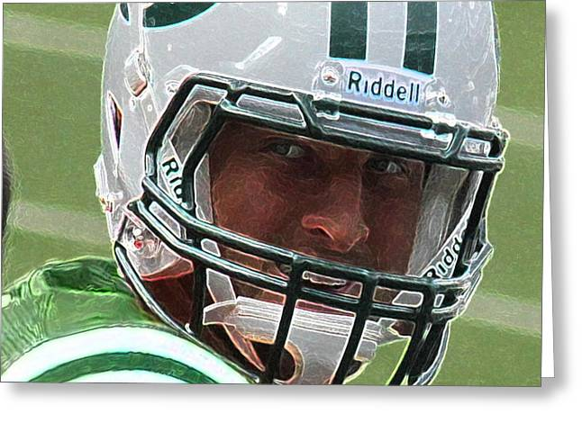 Tim Tebow Art Deco III - New York Jets -  Greeting Card by Lee Dos Santos