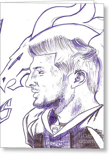 Tebow Greeting Cards - Tim Tebow  Greeting Card by HPrince De Artist