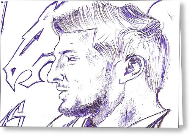 Tim Tebow  Greeting Card by HPrince De Artist