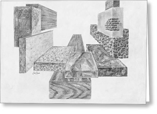 Timber And Stone Greeting Card by Frank SantAgata