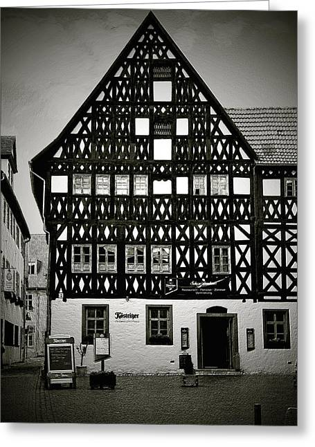 Unesco Greeting Cards - Timber-frame house Weimar Greeting Card by Christine Till