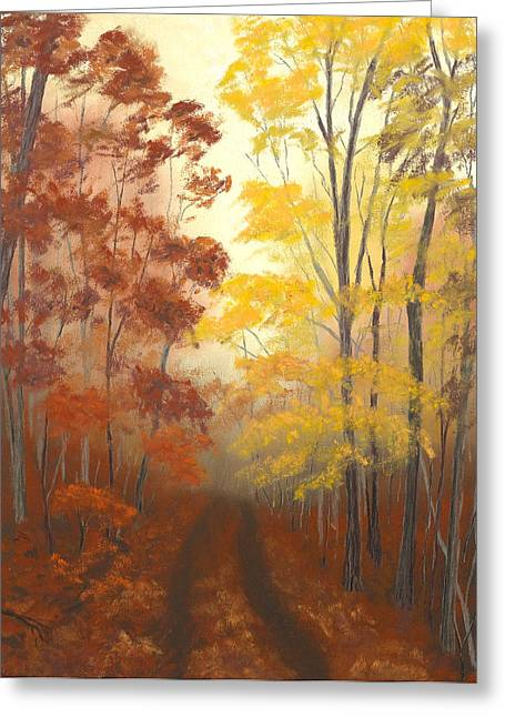 Fall Colors Pastels Greeting Cards - Timber Road Greeting Card by Garry McMichael