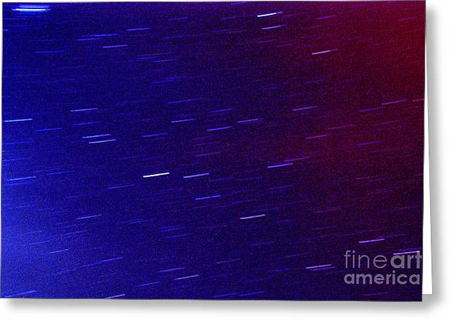 Perseid Meteor Shower Greeting Cards - Time and Space Greeting Card by Thomas R Fletcher