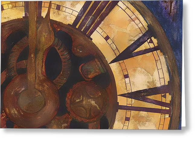 Time Askew Greeting Card by Barb Pearson
