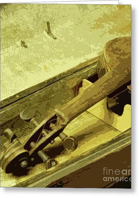 Violin Case Greeting Cards - Time Capsule Greeting Card by Joe Jake Pratt