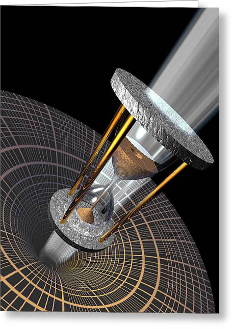 General Concept Greeting Cards - Time Dilation, Conceptual Artwork Greeting Card by Laguna Design