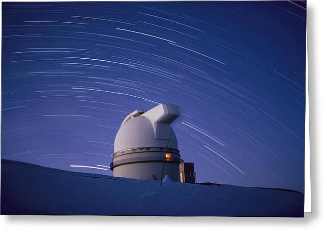 Time-exposure Of The Mauna Kea Greeting Card by Robert Madden