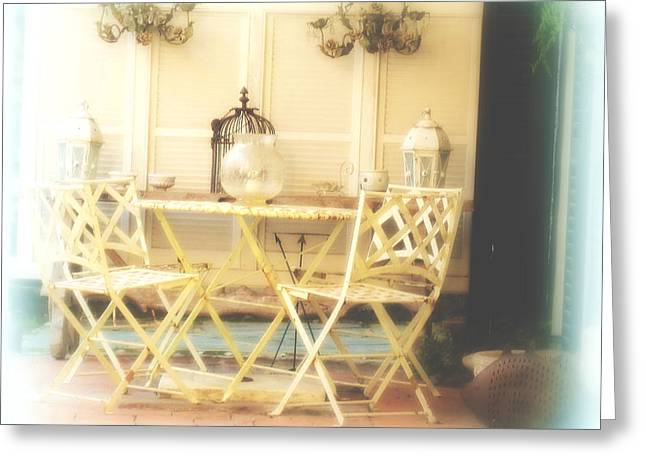 Charleston Greeting Cards - Time for a Cup of Tea Greeting Card by Susanne Van Hulst