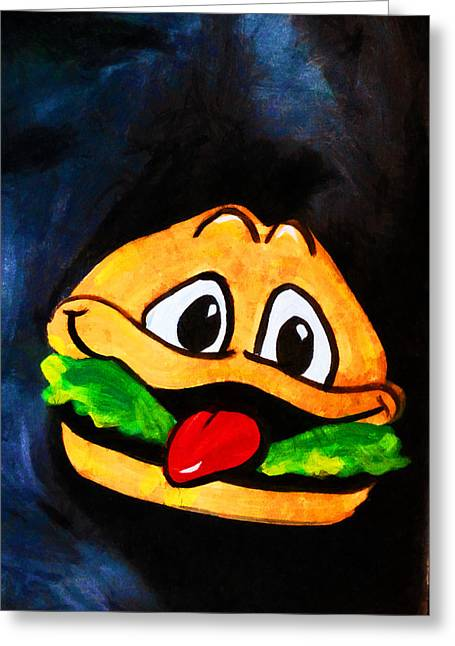 Cheeseburger Digital Greeting Cards - Time for a Happy Burger Greeting Card by Steve Taylor