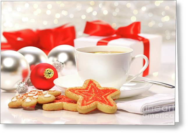 Teatime Greeting Cards - Time for a tea break  Greeting Card by Sandra Cunningham